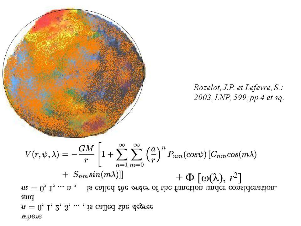 + F [w(l), r2] Rozelot, J.P. et Lefevre, S.: